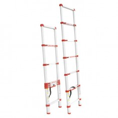 Aluminum ladder telescopic 6 steps 2,00 m INTERTOOL LT-3020: фото 2