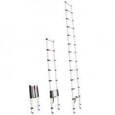 Aluminum ladder telescopic 12 steps 3,80 m INTERTOOL LT-3038: фото 2