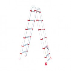 Aluminum ladder telescopic folding universal 12 steps, 3,85 m INTERTOOL LT-3039: фото 2
