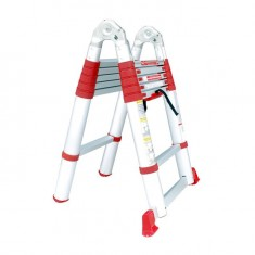 Aluminum ladder telescopic folding universal 12 steps, 3,85 m INTERTOOL LT-3039: фото 4