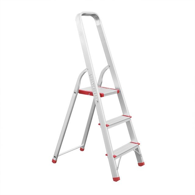 Aluminum stepladder 3 steps height till platform 630 mm INTERTOOL LT-1003