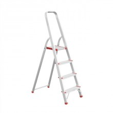 Aluminum stepladder 4 steps height till platform 850 mm INTERTOOL LT-1004