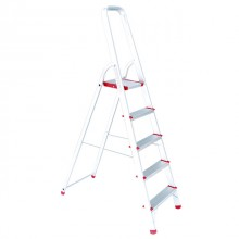 Aluminum stepladder 5 steps height till platform 1065 mm INTERTOOL LT-1005