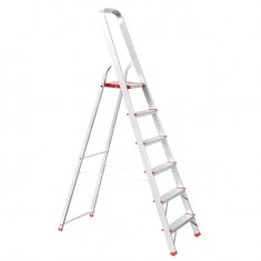 Aluminum stepladder 6 steps height till platform 1280 mm INTERTOOL LT-1006