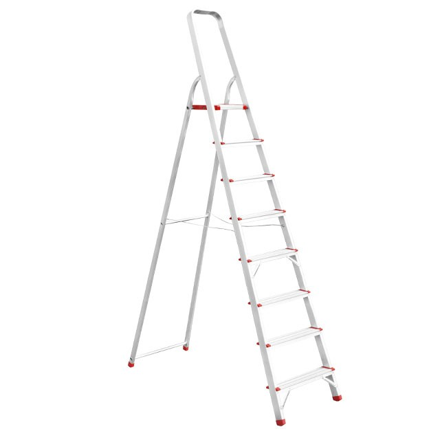 Aluminum stepladder 8 steps height till platform 1720 mm INTERTOOL LT-1008