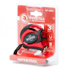Tape measure 3mx16mm auto lock INTERTOOL MT-0803: фото 3