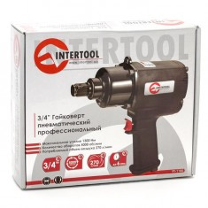"Air impact wrench 3/4"", 1300 n.m., professional, 5000 rpm INTERTOOL PT-1105: фото 2"