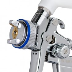 HVLP II Professional painting spray gun 1.3 mm, upper plastic tank 600 ml INTERTOOL PT-0105D: фото 2