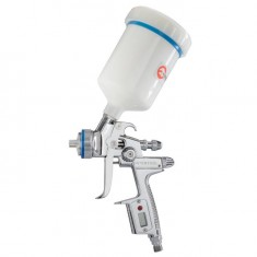HVLP II Professional painting spray gun 1.3 mm, upper plastic tank 600 ml INTERTOOL PT-0105D: фото 4