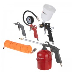 Air painting set, 5 pcs INTERTOOL PT-1501