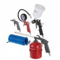 Air painting set, 5 pcs INTERTOOL PT-1502
