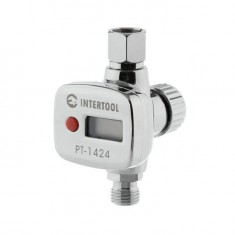 "Pressure controller with digital gauge for painting spray guns 1/4"", professional INTERTOOL PT-1424"