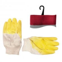 "Jersey lining glove coated with yellow latex, open back, knitted cuff, 10,5"" INTERTOOL SP-0002"