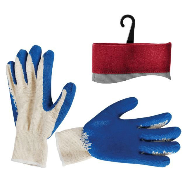 "Jersey lining glove, seamless, coated with blue latex on palm, 10"" INTERTOOL SP-0008"