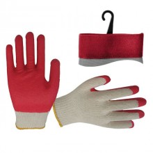 "Jersey lining glove, seamless, coated with red latex on palm, 8"" INTERTOOL SP-0010"