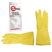 "Latex household gloves 9"" INTERTOOL SP-0018"