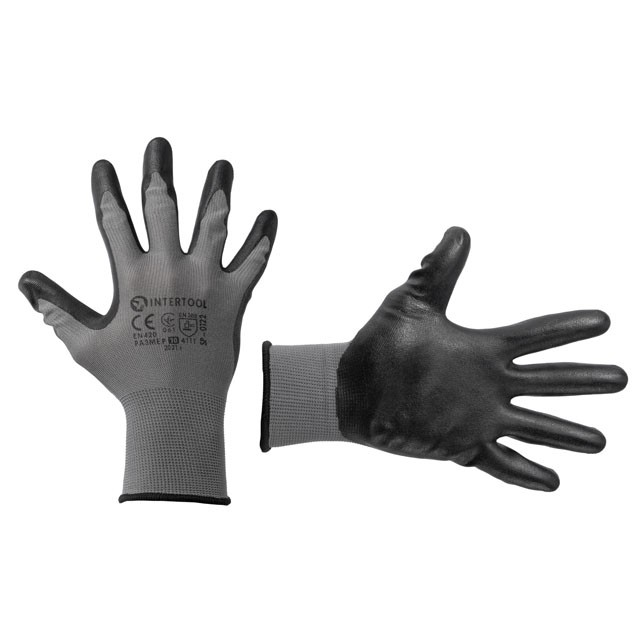 "Jersey lining glove, seamless, coated with latex, 10"" INTERTOOL SP-0122"