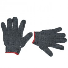 "Cotton knitted gloves, seamless, PVC dots on palm, 9"", grey INTERTOOL SP-0102"