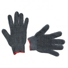 "Cotton knitted gloves, seamless, 9"", grey INTERTOOL SP-0103"