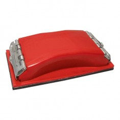 Sanding block 85x165 mm, metal clip for quick and sure fixation 100x210 mm INTERTOOL HT-0002