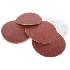 Velcro sanding disc 125 mm, K80, 10 pcs. pack INTERTOOL BT-0508