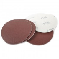 Velcro sanding disc 125 mm, K180, 10 pcs. pack INTERTOOL BT-0518