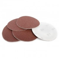 Velcro sanding disc 125 mm, 8 holes, K40, 10 pcs. pack INTERTOOL BT-0554