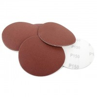 Velcro sanding disc 125 mm, 8 holes, K150, 10 pcs. pack INTERTOOL BT-0563