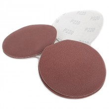 Velcro sanding disc 125 mm, 8 holes, K220, 10 pcs. pack INTERTOOL BT-0565