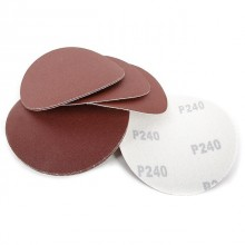 Velcro sanding disc 125 mm, 8 holes, K240, 10 pcs. pack INTERTOOL BT-0566