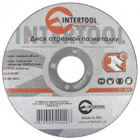 Cut-off wheel for metal 115x1,2x22.2 mm INTERTOOL CT-4002