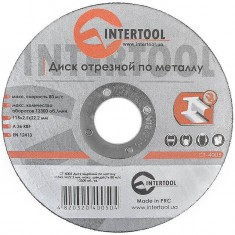 Cut-off wheel for metal 115x2,5x22.2 mm INTERTOOL CT-4005