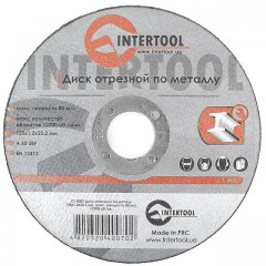 Cut-off wheel for metal 125x1,2x22.2 mm INTERTOOL CT-4007