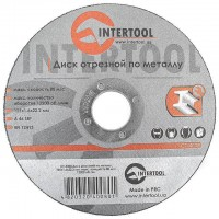 Cut-off wheel for metal 125x1,6x22.2 mm INTERTOOL CT-4008
