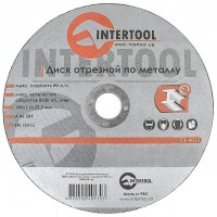 Cut-off wheel for metal 180x1,6x22.2 mm INTERTOOL CT-4013