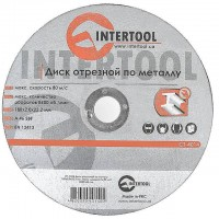 Cut-off wheel for metal 180x2,0x22.2 mm INTERTOOL CT-4014
