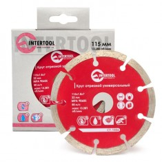 Segmented Saw Blade 115 mm INTERTOOL CT-1006: фото 3