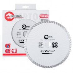 Turbo Saw Blade 180 mm INTERTOOL CT-2004: фото 2