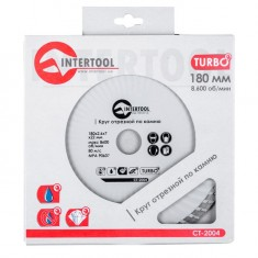 Turbo Saw Blade 180 mm INTERTOOL CT-2004: фото 3