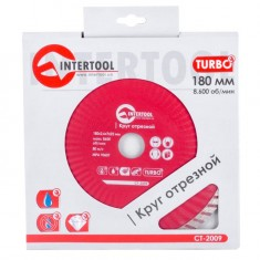 Turbo Saw Blade 180 mm INTERTOOL CT-2009: фото 3