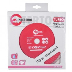 Turbo Saw Blade 230 mm INTERTOOL CT-2010: фото 3