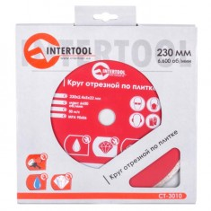 Continuous Rim Saw Blade 230 mm INTERTOOL CT-3010: фото 3