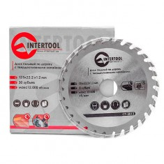 Saw blade for wood, carbide tipped 125x22x1.4 mm , 30 teeth INTERTOOL CT-3013: фото 3