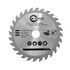 Saw blade for wood, carbide tipped 150x22.2x1.5 mm , 27 teeth INTERTOOL CT-3015