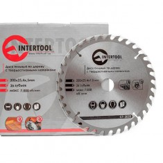 Saw blade for wood, carbide tipped 200x25.4x1.5 mm , 36 teeth INTERTOOL CT-3020: фото 3