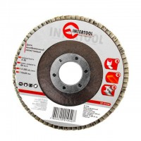 Flap disc 115 mm x 22, K40 INTERTOOL BT-0104
