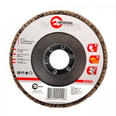 Flap disc 115 mm x 22, K100 INTERTOOL BT-0110
