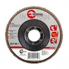 Flap disc 115 mm x 22, K150 INTERTOOL BT-0115