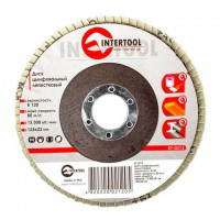 Flap disc 125 mm x 22, K120 INTERTOOL BT-0212