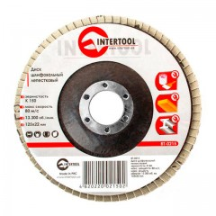 Flap disc 125 mm x 22, K150 INTERTOOL BT-0215